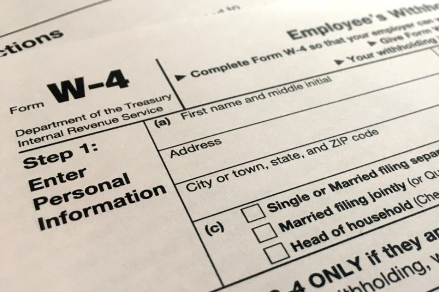 Employee s Withholding Certificate Form W 4