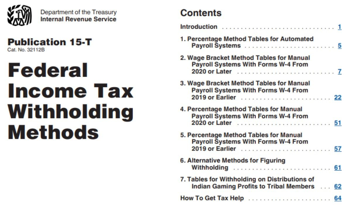 Employer Federal Tax Withholding Tables