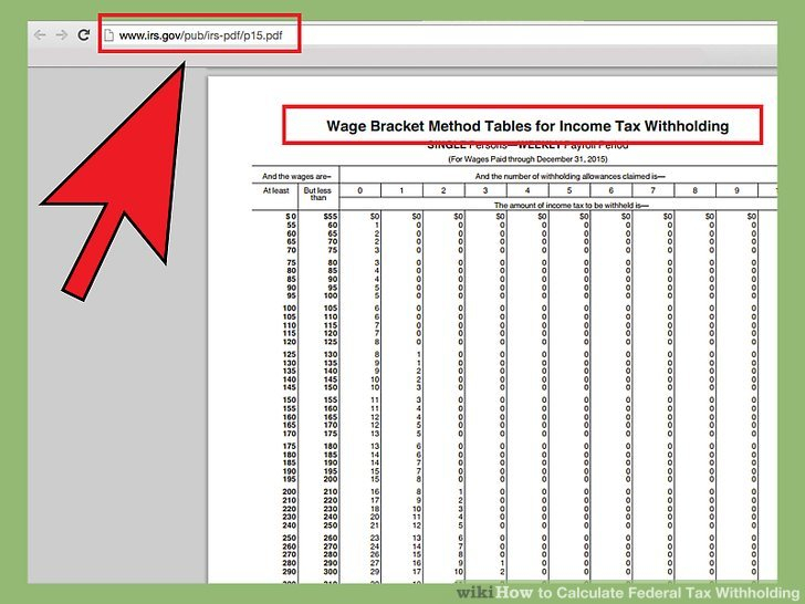 How To Calculate Federal Tax Withholding 13 Steps with