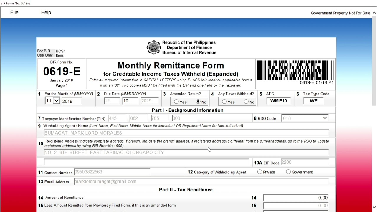 How To File And Pay Your Monthly Expanded Withholding Tax