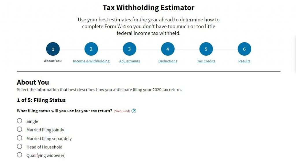 Tax Withholding Calculator 2021